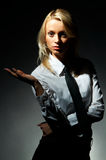Pose modèle blonde Photographie stock