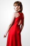 Pose modèle de belle femme dans le studio sur le fond blanc Photo stock