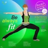 Pose musculaire sportive de femme illustration libre de droits