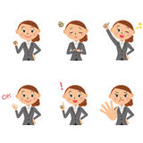 Pose of the office worker Stock Photography