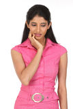 Pose of sad young girl Stock Photography