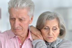 Pose supérieure triste de couples Images libres de droits