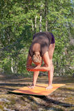 Pose Uttanasana Stock Images