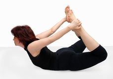 Pose in yoga Stock Photography