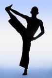 Pose of yoga Stock Photos