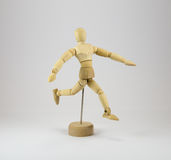 Poseable mannequin running Stock Images