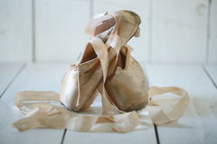 Posed Pointe Shoes in Natural Light Stock Photography