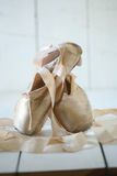 Posed Pointe Shoes in Natural Light Royalty Free Stock Photo