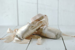 Posed Pointe Shoes in Natural Light Royalty Free Stock Image