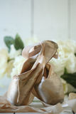 Posed Pointe Shoes in Natural Light Royalty Free Stock Photography