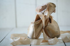 Posed Pointe Shoes in Natural Light Stock Image