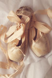 Posed Pointe Shoes in Natural Light Stock Photo