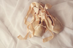 Posed Pointe Shoes in Natural Light Stock Photos