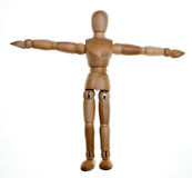 Posed Wooden Mannequin Stock Image