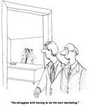 Poseer el márketing libre illustration