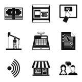 Poseer los iconos fijados, estilo simple del negocio ilustración del vector