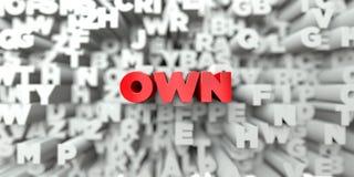 POSEER - Texto rojo en fondo de la tipografía - 3D rindió imagen común libre de los derechos ilustración del vector