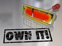 Poseerlo responsabilidad de la demanda de propiedad del hierro de marcado en caliente ilustración del vector