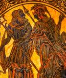 Poseiden Neptune Theseus Greek Ancient Replica Pottery Athens Gr. Poseiden Neptune Theseus Greek Warrior Greek Designs Ancient Replica Pottery Athens Greece Royalty Free Stock Photography