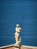 Poseidon на море Стоковое фото RF