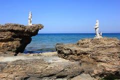 Poseidon & русалка Стоковое фото RF