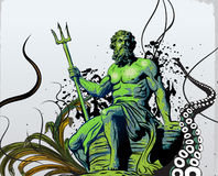 Poseidon. God of the seas, Poseidon. Additional  format Illustrator 8 eps Stock Photos