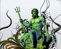 Poseidon Imagem de Stock
