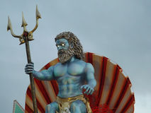Poseidon. Representation of the carnival of Viareggio in Tuscany Stock Images