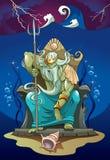 Poseidon, de God van het Overzees Stock Afbeeldingen