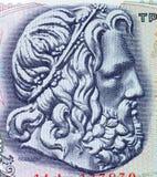 Poseidon, dio greco del mare Fotografie Stock