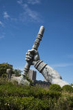 Poseidon giant hand,The amusement park, modern architecture Royalty Free Stock Image