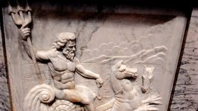 Poseidon marble carving Royalty Free Stock Photos