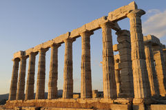 Poseidon's Temple in Greece Stock Image