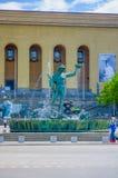 Poseidon statue in downtown Gothenburg Stock Image