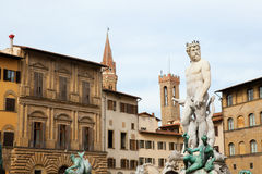 Poseidon Statue in Florence Stock Image