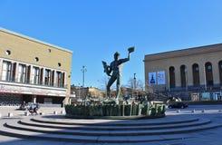 Poseidon statue at Götaplatsen in Gothenburg royalty free stock image