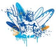 Poseidon surfare Royaltyfri Fotografi