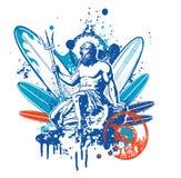Poseidon surfare Royaltyfria Bilder