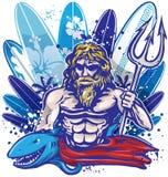 Poseidon surfer Royalty Free Stock Photo