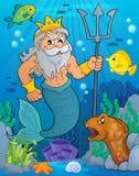 Poseidon tematu wizerunek 2 Zdjęcia Stock