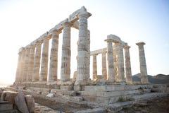 Poseidon tempel Royaltyfri Bild