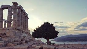 Poseidon-Tempel im Kap Sounion stockbild