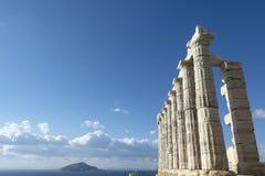Poseidon-Tempel an Kap sounio Stockfoto