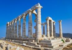 Poseidon Tempel nahe Athen, Griechenland Stockfotografie