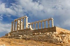 Poseidon temple. Ruins of Poseidon temple, Cape Sounion, Greece Stock Photos