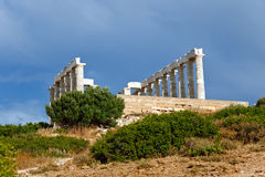 Poseidon temple. Ruins of Poseidon temple, Cape Sounion, Greece Stock Image