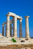 Poseidon Temple at Cape Sounion, Greece Stock Photo
