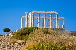 Poseidon Temple at Cape Sounion near Athens Royalty Free Stock Photo