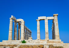 Poseidon Temple at Cape Sounion near Athens, Greece Royalty Free Stock Images