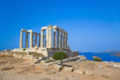 Poseidon Temple at Cape Sounion near Athens, Greece Stock Photos